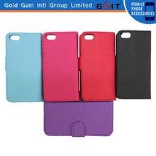 2014 Nueva llegada Tapa protectora teléfono móvil tapa cartera para Iphone 5S, Cubierta estante para Iphone 5S