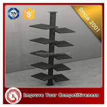 Retail wooden display stand with 4 way gondola for clothes /wooden clothing shops display stands