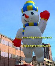 Muñeco de nieve inflable globo de helio globo para publicidad, eventos, desfiles de botes