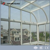 Tempered glass roof panels