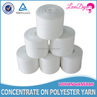 WHOLESALE 40/2 dyeing plastic cone 100% virgin polyester yarn
