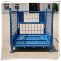 cage metal bin storage container/storage wire mesh cage