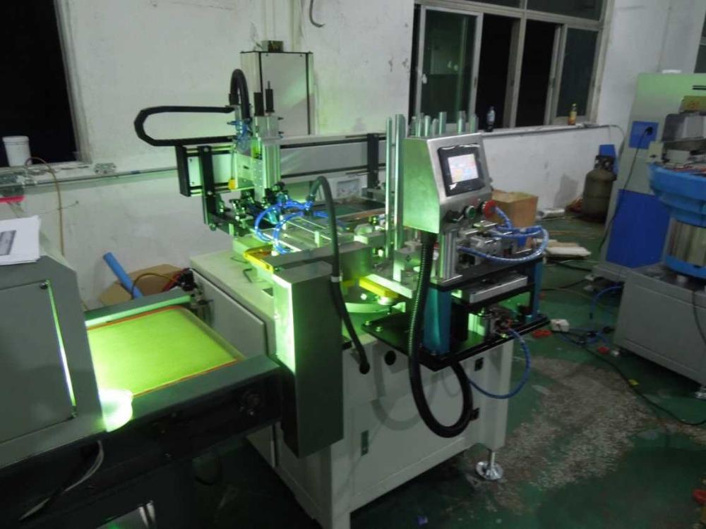 hot sale automatic flatbed plastic rulers stationary UV Flat silk Screen Printing machine TH-300