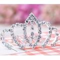 brillante astilla de cristal nupcial tiara de venta al por mayor
