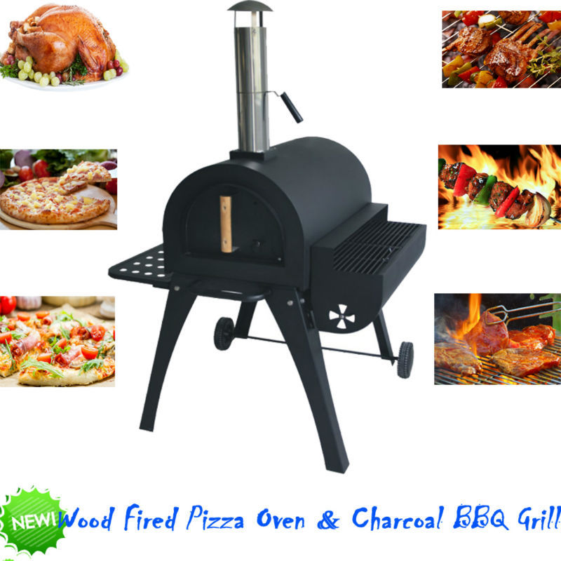 outdoor charcoal bbq grill wood fired pizza oven baker buy outdoor charcoal bbq grill barbecue. Black Bedroom Furniture Sets. Home Design Ideas