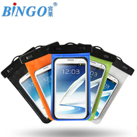 """Bingo IPX8 pvc waterproof mobile bag 5.5"""" fit universal mobile hot sell factory wholesale price"""