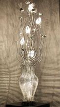 2015 new model silver and purple handmade aluminum flower vase floor lamp