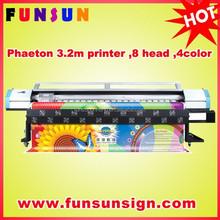 Phaeton 3.2m large outdoor banner solvent inkjet printer (6heads ,6color ,best quality)