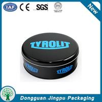 Custom printed empty shoe polish round tin can