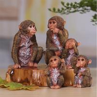 Resin monkey troop statue Resin crafts monkey sculpture Arts & crafts Animal figurine
