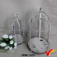 Handmade Bulk Round Antique Wire Mesh Bird Cage