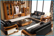 Site italiano sofá de móveis/madeira estrutura de sofá de couro clássico 3222