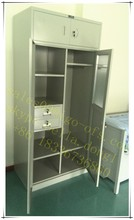 Unique Bedroom Design Top Cabinet Mirrored Steel Wardrobe Price