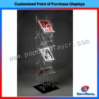 Floor-standing acrylic book display stands
