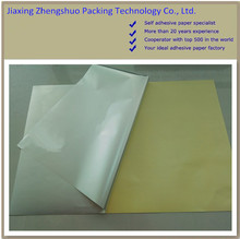 Silicone cast coated self adhesive paper ,customized