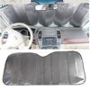 Windshield Aluminum Foil Visor Portable Fold Car Window Sun Shade Cover Visors/Auto Car Cloth Block Sun Shade Reflector Sun