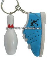Custom pvc promotion shoe keychain/keyring