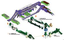Cement bags reclaiming machine |HDPE LDPE LLDPE film, sheet PP bags crushing washing recycling machine line