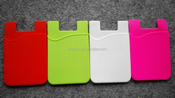 China Supplier wholesale 3M stiker adhesive Silicone phone smart wallet