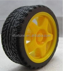 High quality Smart Car Model Plastic Robot Wheel