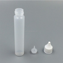 Empty plastic super glue bottle with child proof long thin tip plastic bottle