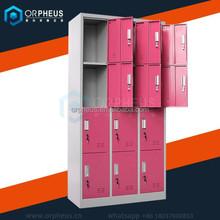 Different color outdoor metal storage foot locker/bag locker/personal storage lockers