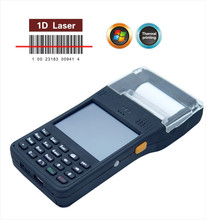 Powerful battery handheld pos terminal with printer parking ticket machine
