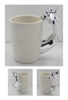 Giraffe Ceramic mug with electroplate silver finish