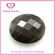 High quality oval shape faceted cut black opal