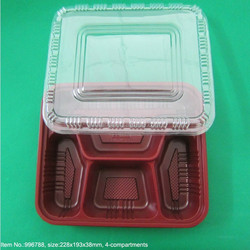 Disposable plastic container food packaging for hot/frozen/snack/sushi food