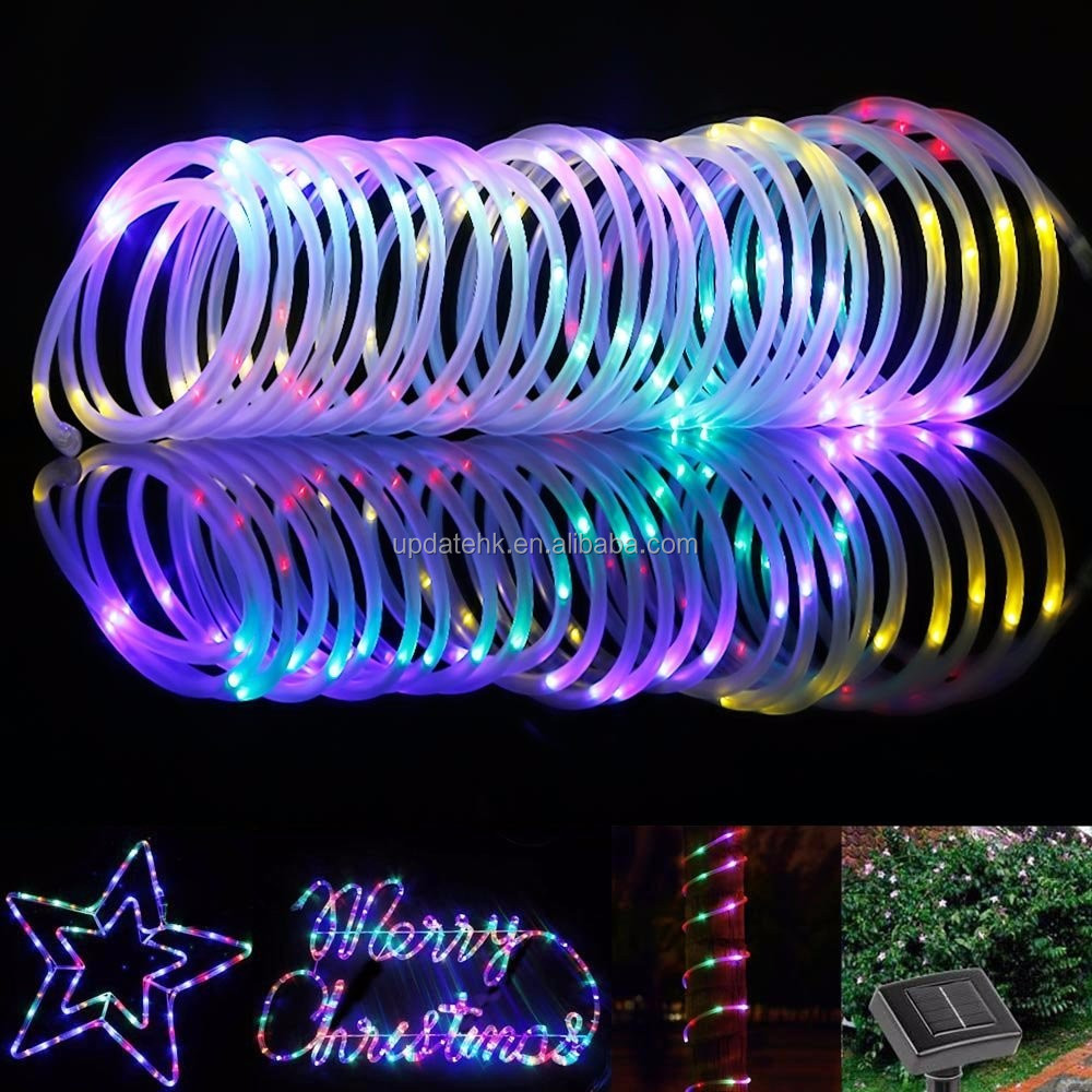 120led solar rgb color changing led rope lightled light swimming solar rope 15g mozeypictures Image collections