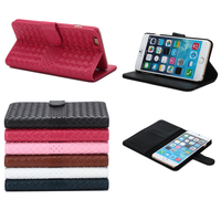 New product TPU+leather stand mobile phone case cover for iphone 6