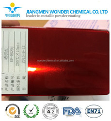 mirror red with clear powder nano dry-plating powder coating