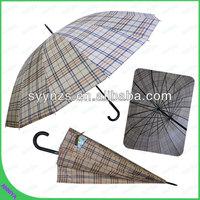 Check Design Auto Open Straight Umbrella, Rain Umbrella for sale