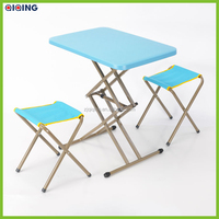 PE plastic folding table outdoor table,picnic dining table,metal rectangle table HQ-1052-47