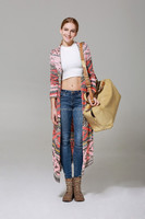 5072 LONG PATTERN LADIES CARDIGAN