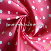 100 % polyester printed satin fabric