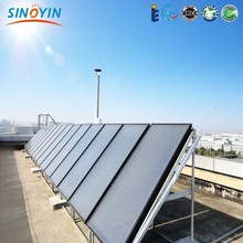 indirect active solar water heating system with flat thermal panel solar collector