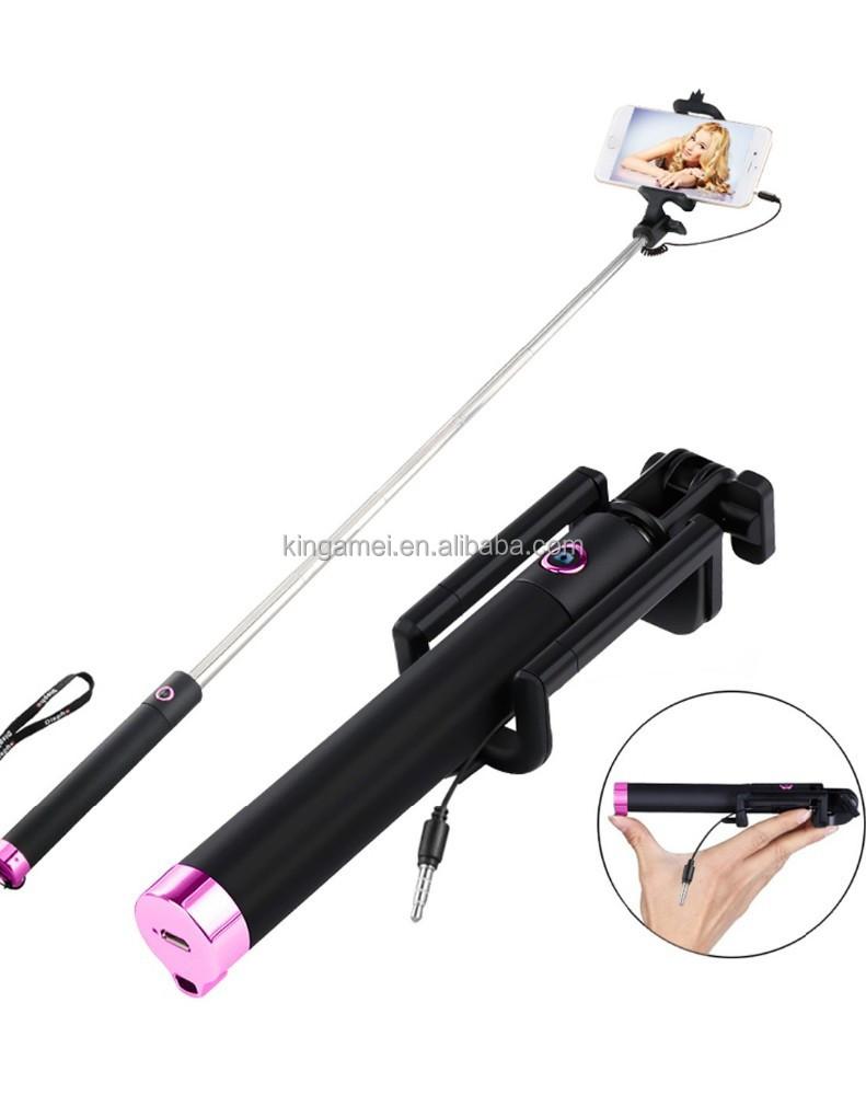 cable selfie stick wired selfie stick promotional buy cable selfie stick wi. Black Bedroom Furniture Sets. Home Design Ideas