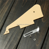 Wholesale 1pcs LP Pickguard + 1pcs Bracket with Screws Les-Paul Scratch Plate Pick Guard With Chrome Fit Bracket LP Guitar