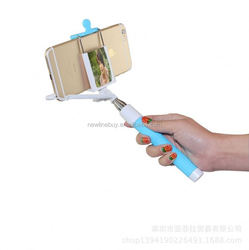 folding wire clip groove tube factory direct phone camera wireless bluetooth selfie stick