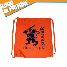 hot sale Superman Pattern Polyester Fabric Basketball/soccer Sport brand Drawstring Shoe Bags /Tote