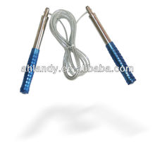 Jump rope with metal steel wire with bearing