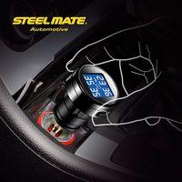 2015 Steelmate TP-74B lcd monitor tpms car battery life extender,tpms smartphone, tire valve caps pressure indicator