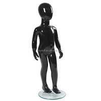 new glossy black abstract full body child kid boy models mannequin