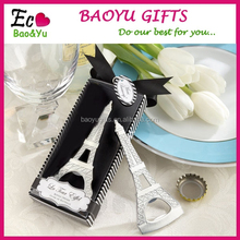 Creative Eiffel Tower Stainless Steel Beer Bottle Opener Promotional Wedding Decoration Beer Bottle Opener Wholesale For Weddin