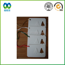 Xmas tree shaped special surface finishing star hole Christmas gift funny design creative paper greeting cards