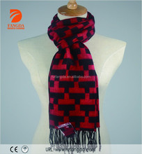 Cool scarf polyester blend brushed scarf 70%Polyester 30%Viscose scarf