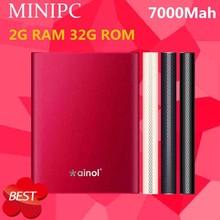 ainol MINI PC 7000mHA power bank Windows8.1 OS 2GB Ram 32GB Rom Intel Z3753D quad core TV BOX
