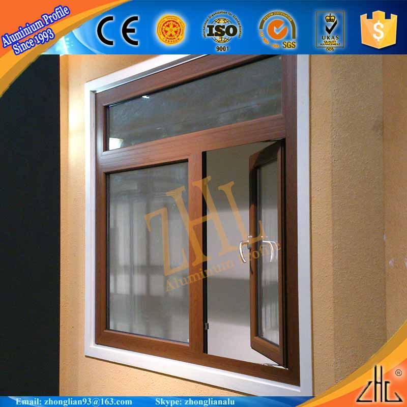 New Aluminum Windows : New wood finish powder coating aluminium window cheap